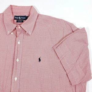 Ralph Lauren Mens L Blake S/S Red Check Shirt